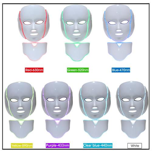 7 Colors Facial Skin Rejuvenation PDT LED Mask