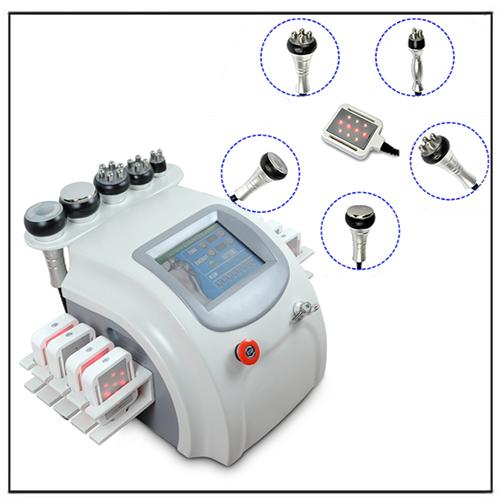 6 in 1 Diode Lipolaser Vacuum Cavitation RF Slimming Machine