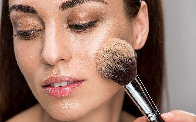 Powder Foundation with Brush
