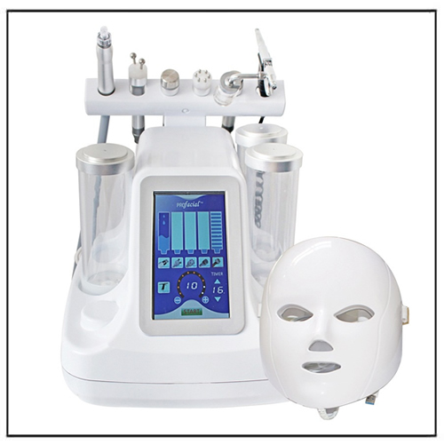 7 in 1 Multifunction RF BIO Mirocurrent Ultransound LED Mask Hydra Dermabrasion Facial Machine