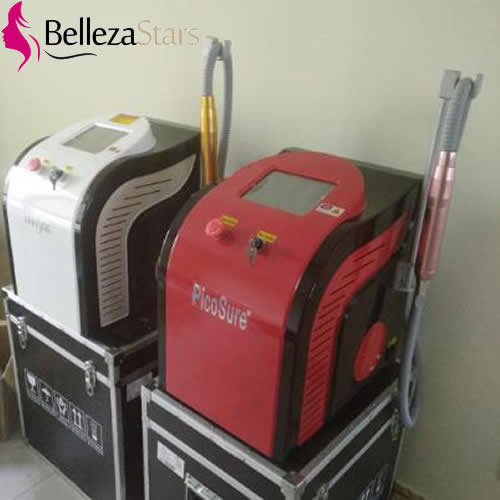 Red White Housing Pico Second Beauty Equipments
