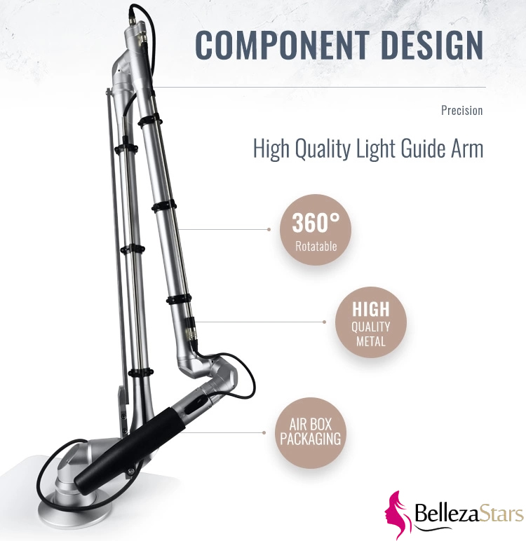 High quality picoway Q-switched Nd yag light guide arm