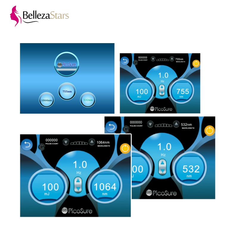 Picosure 1064nm 755nm 532nm picosecond laser screen