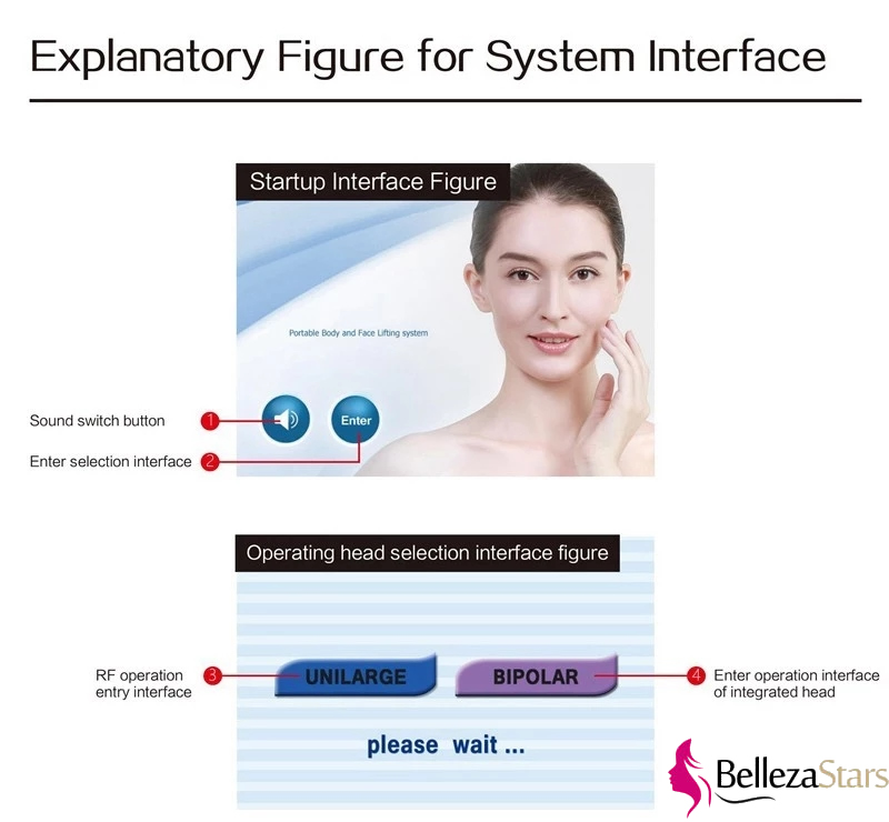 Explanatory Figure for Thermolift RF Face and Body Lifting System Interface