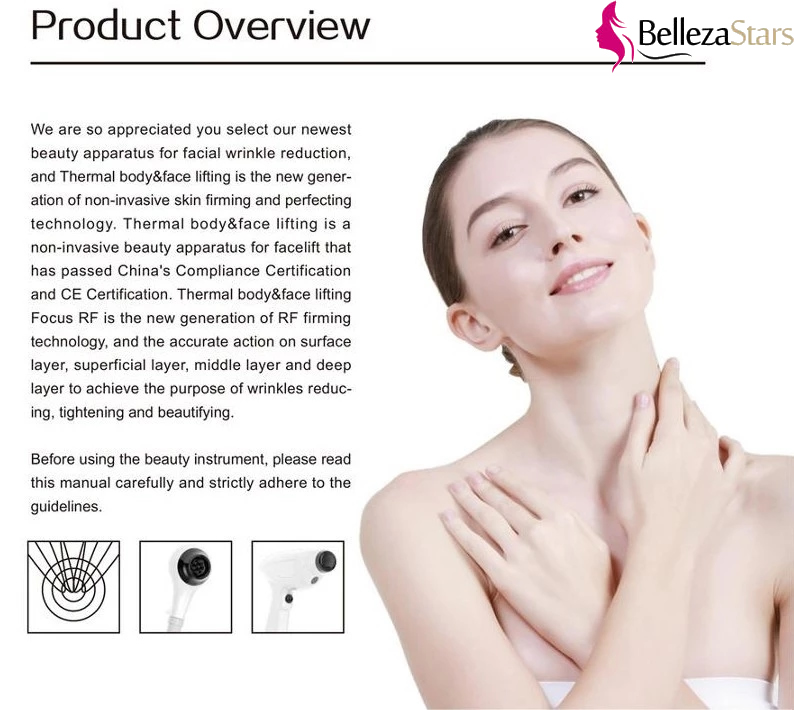 Thermolift Face Lift RF Anti-wrinkle System Product Overview