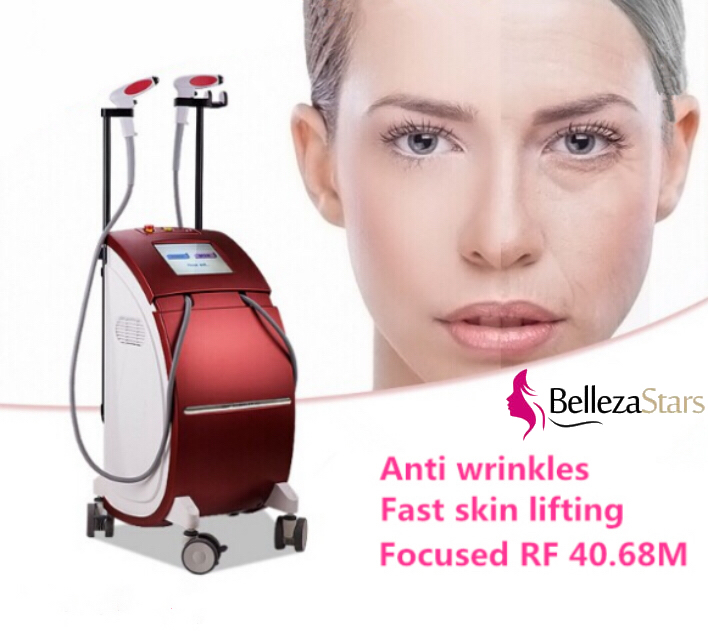 2 Handle Thermolift RF Focused 40.68Mhz Machine Anti wrinkles fast skin lifting