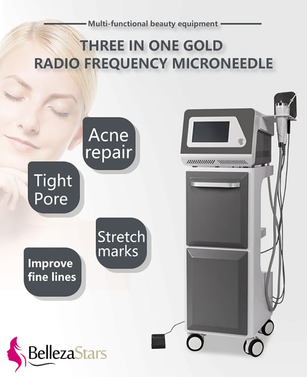 Gold Fractional RF Crystal Skin Therapy Machine