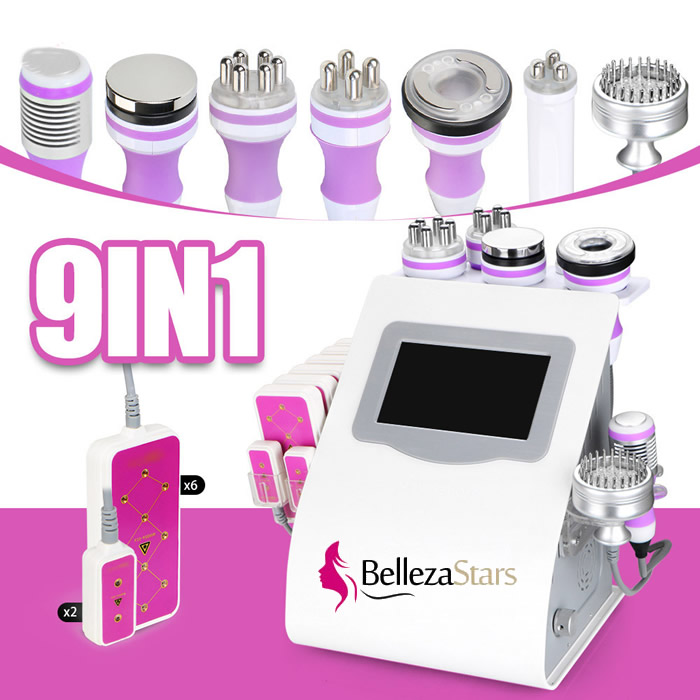 9 In 1 Multifunction Lipolaser Cavitation Vacuum Rf Slimming Beauty Machine