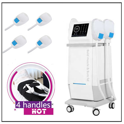 Trending Body Shaping Beauty Equipment 4 Handles HIEMT Machine