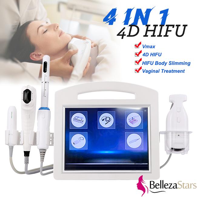 4 in 1 4D 3D Face Theatment V Max Hifu Machine