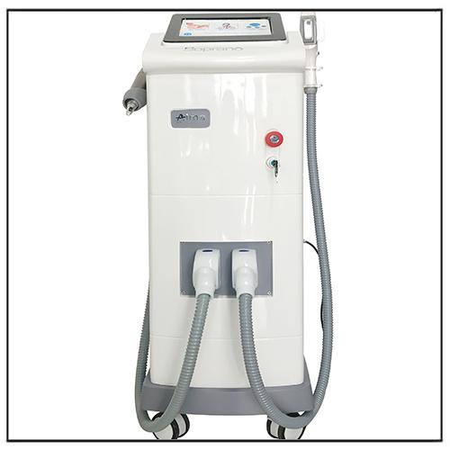 2 in 1 Nd yag Pico Laser + DPL SHR Diode Laser Machine
