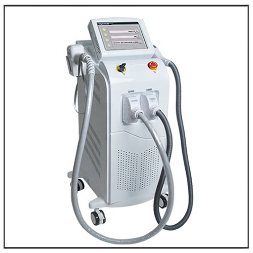 Dual System Q Switch Nd yag Laser 808nm Diode Laser Hair and Tattoo Removal Machine
