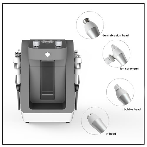 Waterdermabrasion Microdermabrasion Device with 4 Handles